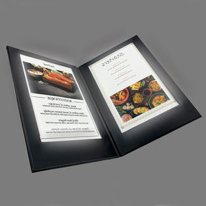 New Restaurant Business Printing Lighting Menu Cover Led Card
