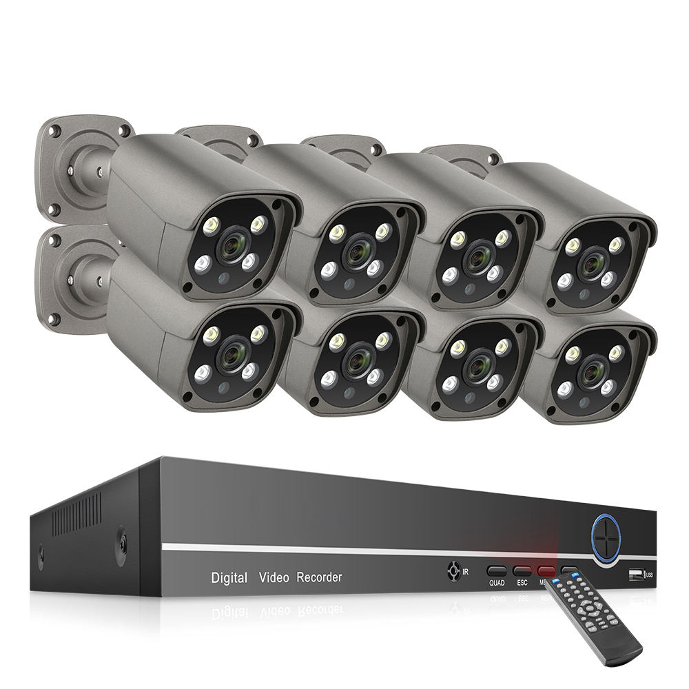 8CH 5MP POE NVR Kit Techage H.265 IP Camera System Two-Way Audio CCTV Security Video Surveillance System
