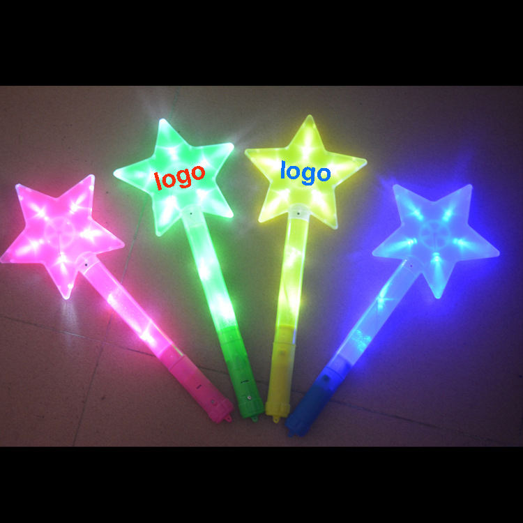 Custom Logo Eco Friendly Star Long Green Glow Light Led Stick