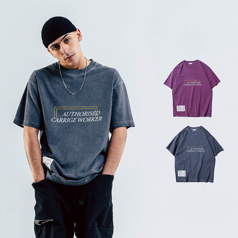 Vintage Oversized T-Shirt Men hip hop Heavy Washed For Men O Neck Top Tees Male Luxury Streetwear T Shirt