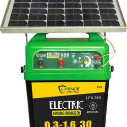 Farm Electric Fence solar powered energizer with solar panels for house livestock