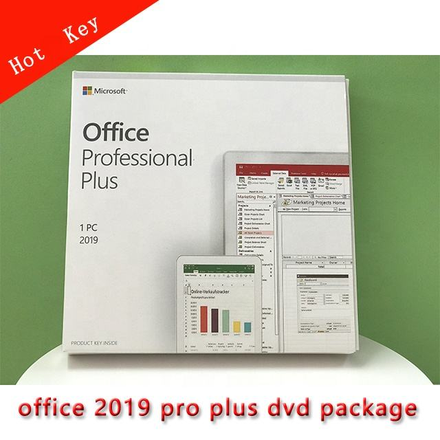 Wholesale Office 2019 Profesional Office 2019 Pro Plus DVD Full Package DHL freeshipping Sold Hot