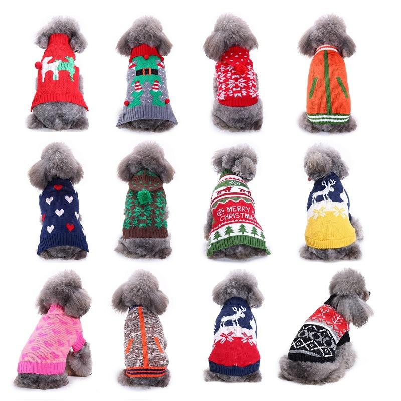 Good design Dog Christmas Sweater / pet winter coat / Puppy Doggy Cat Winter Warm Clothes