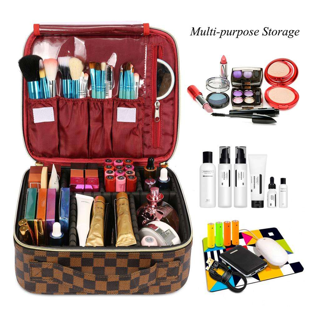 Lokass Cosmetic Bag Lazy Travel Makeup Bag Pattern Make Up Storage Organizer Magic Cosmetic Pouch for Women Girls