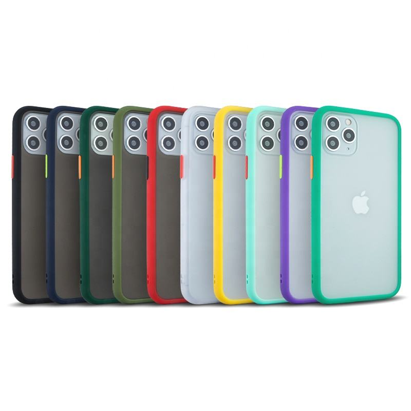 Cores silicone caso do toque para o iphone 11 10 barato tpu + pc celular mobile phone case capa para apple