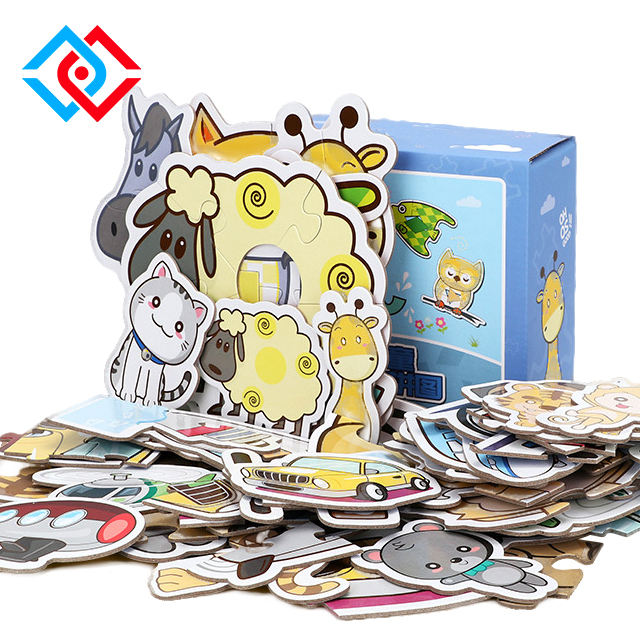 Jigsaw Puzzle Custom Printed Thick Chipboard Kids Toy Educational 3d puzzle game