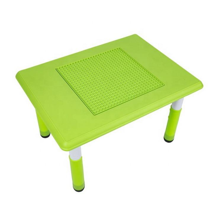 building block table bricks table lego toy kindergarten furniture preschool table playing with adjustable height