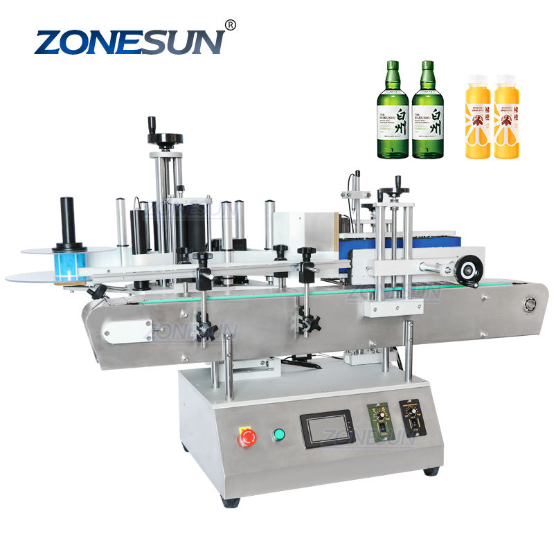 ZONESUN ZS-TB150A Essential Oil Cosmetics Small Glass Bottle Labeling Applicator Machinery Round Sticker
