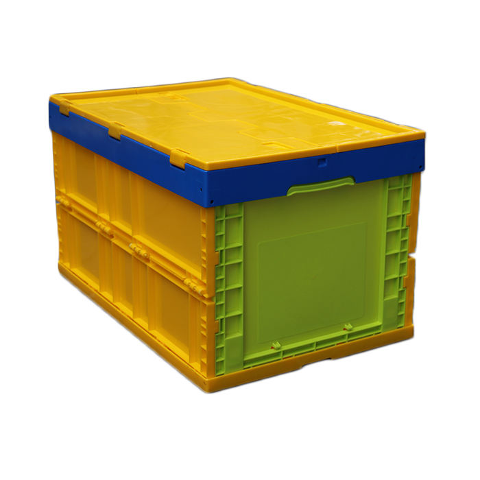 Plastic Foldable Box Collapsible Crate With Lid Plastic Vented Crate For Sale