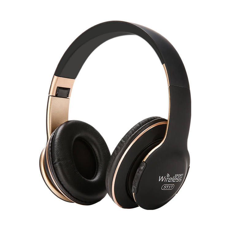 Hot selling wireless soft men women adjustable level bluetooth headphone headset