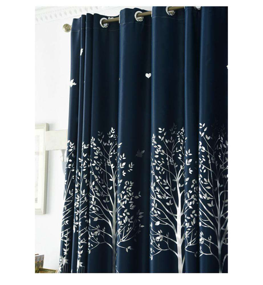 Hot selling solid colors ready made blackout curtains used for the hotel living room