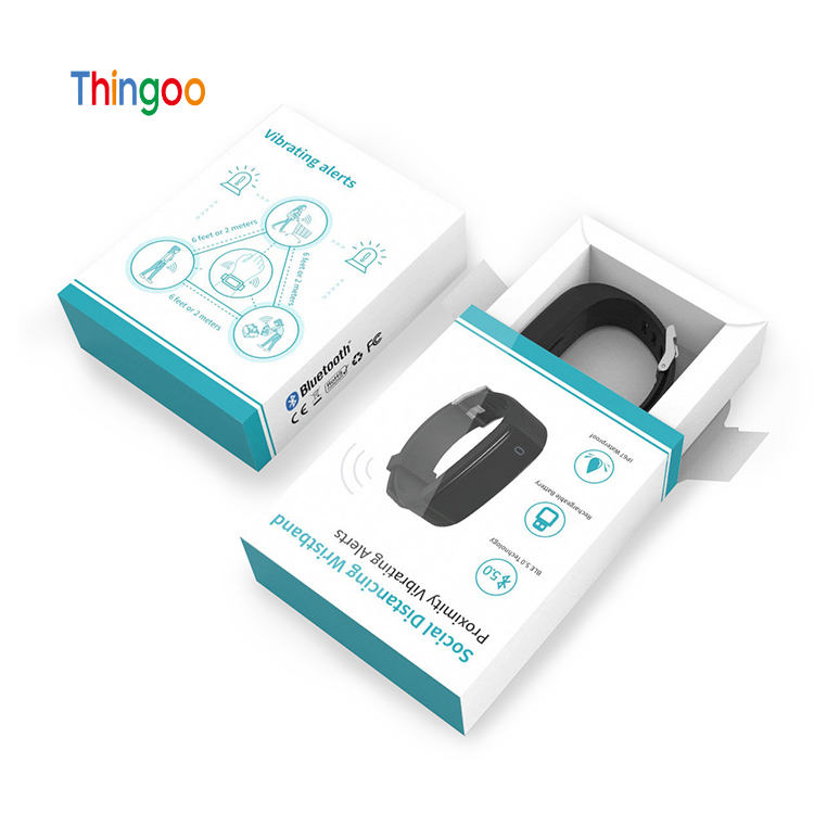 Bluetooth wristband tags social distancing tag wearable sensor device proximity sensor bracelets