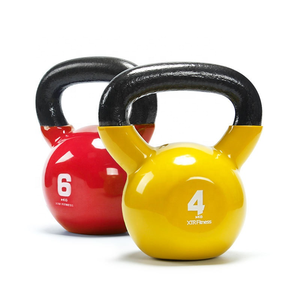 Wholesale Fitness Equipment Cast Iron Powder Coated Competition Colorful Kettlebell Handles Set 50lb Use For Gym Home