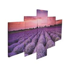 Wholesale lavender Picture Custom Print on Canvas 5 Panel Wall Art Canvas prints