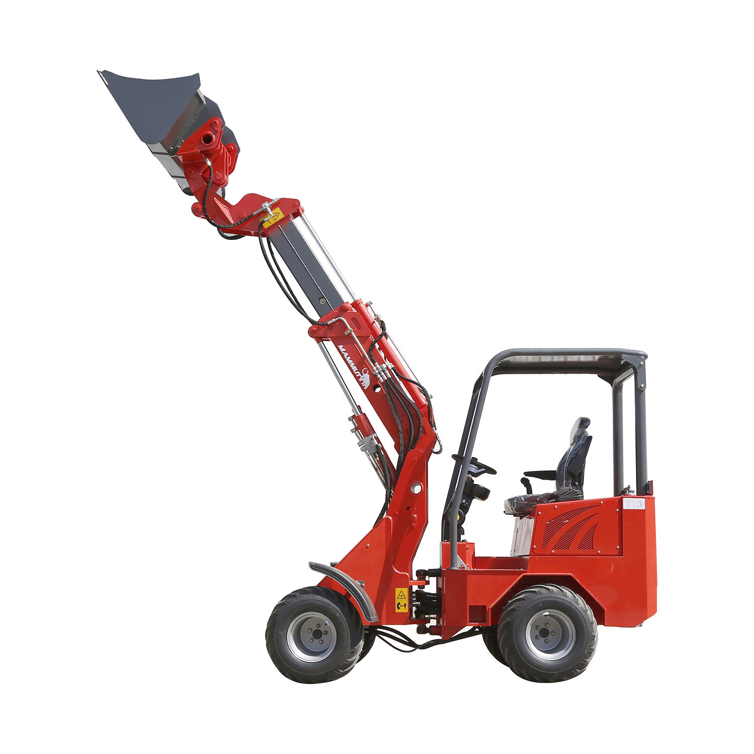 mechanical mini small low height front end arm shovel wheel loader with telescopic arm