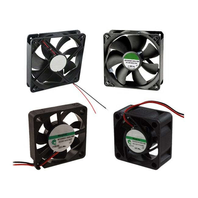 KLS eletirc 5v 12v 24v 48v brushless industrial dc moto fan 25mm 30 mm 35mm 40mm 50mm 60mm 70mm 80mm 120mm cooling axial dc fan