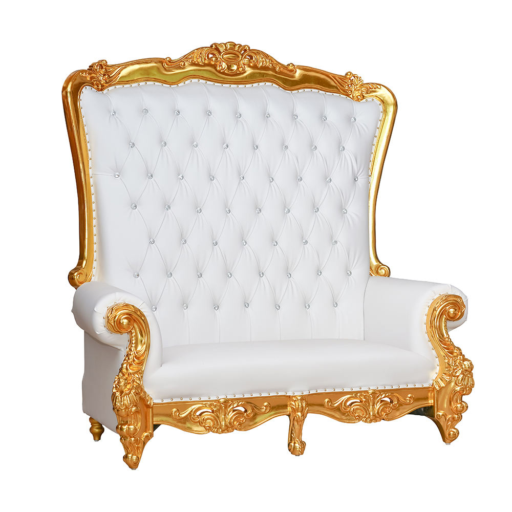 Best Selling Love Seat Wedding White High Back Throne Chair