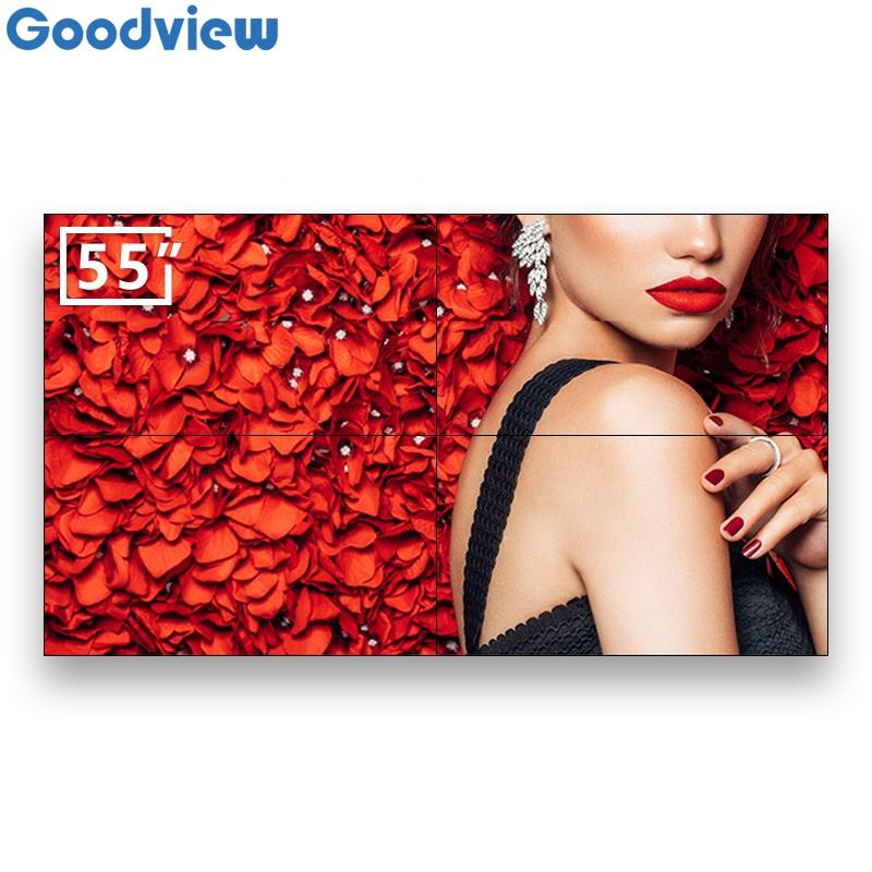 China best-selling 55inch ultra thin bezel digital signage display 3.5mm seamless videowall advertising screen video wall system