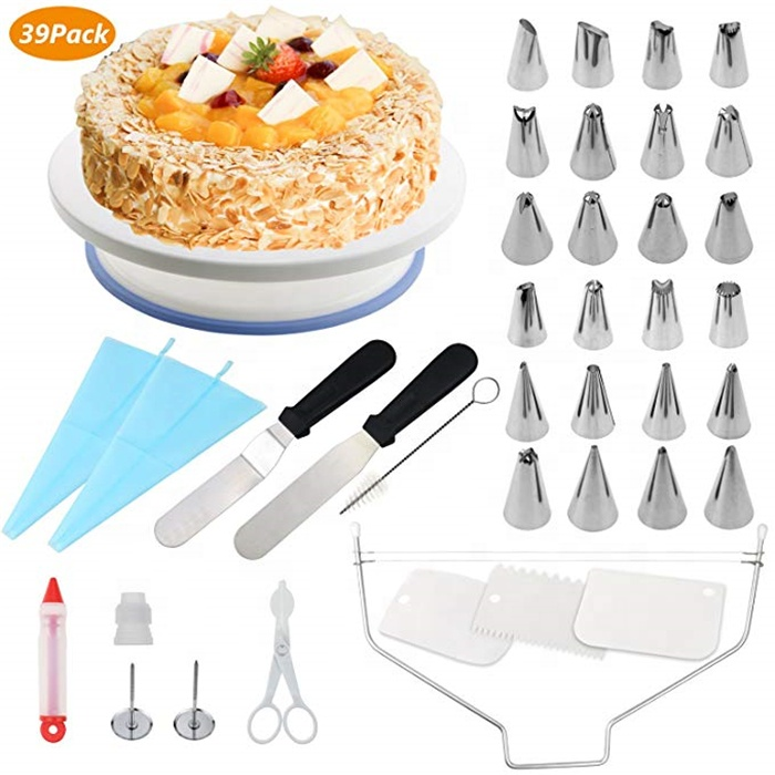 39 Pieces Cake Decorating Supplies Kit Wedding Cake Decorating Accessories Cake Stand Set