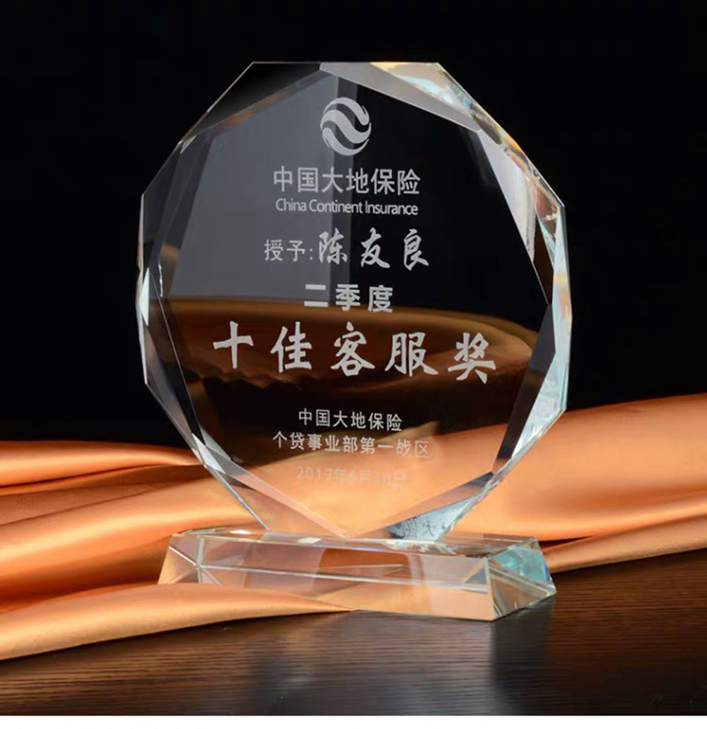 Custom Quality 3D Engrave Round Blank glass K9 Crystal Trophy/Award/Plaque/Trophy