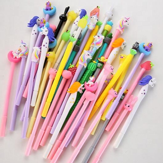 2019 unicorn creative design fancy cute unique gel ink pen office school supplies