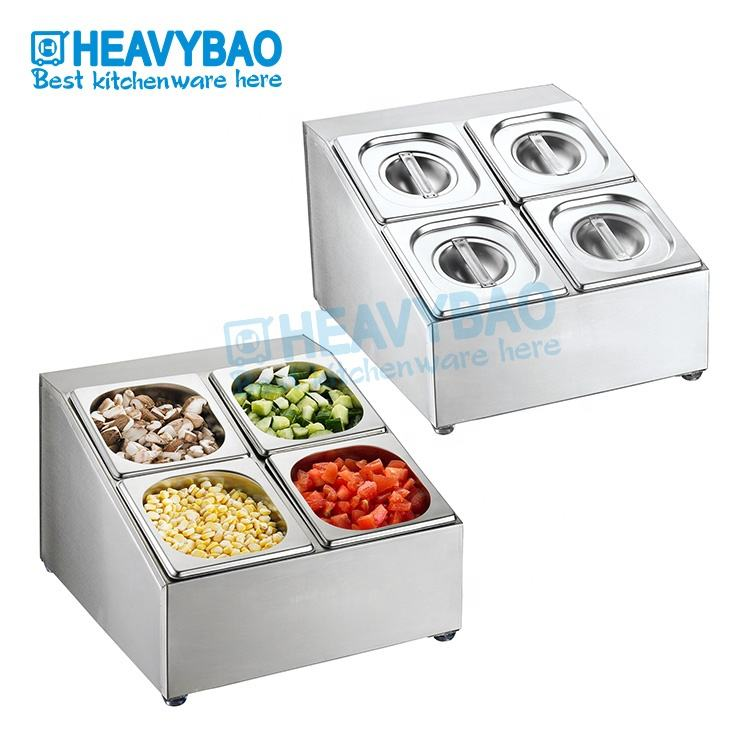 Heavybao High Quality Buffet Stainless Steel Gastronorm Food Container GN Holder For Kitchen Equipment