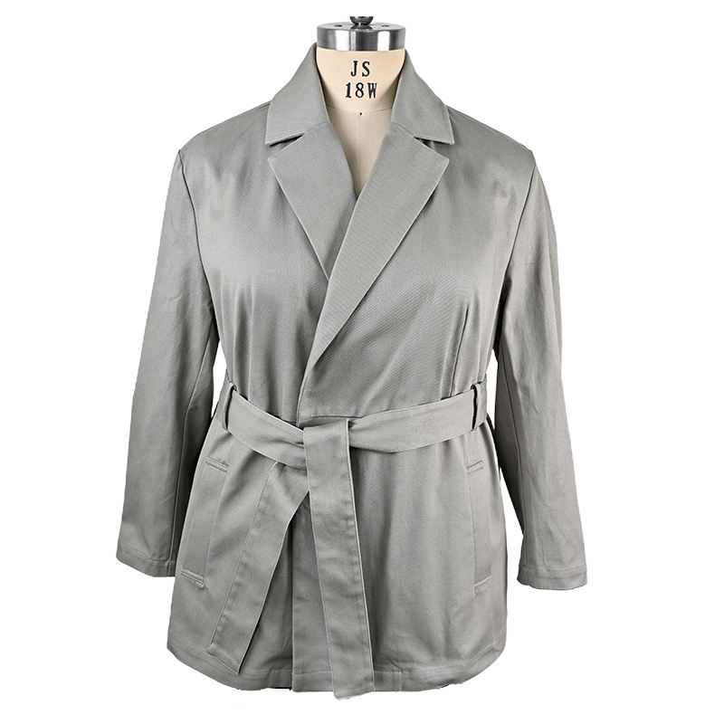 new design ladies new model canvas belted women cotton canvas jacket