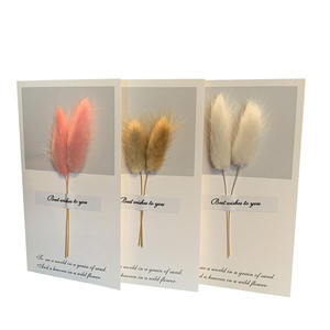 Hot sale dried flower greeting cards wholesale birthday greeting cards with dried flower