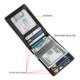 Wallet Wallet Wallet Men Front Pocket Carbon Fiber Mens Silm Wallet RFID Blocking PU Leather Money Clip Wallet