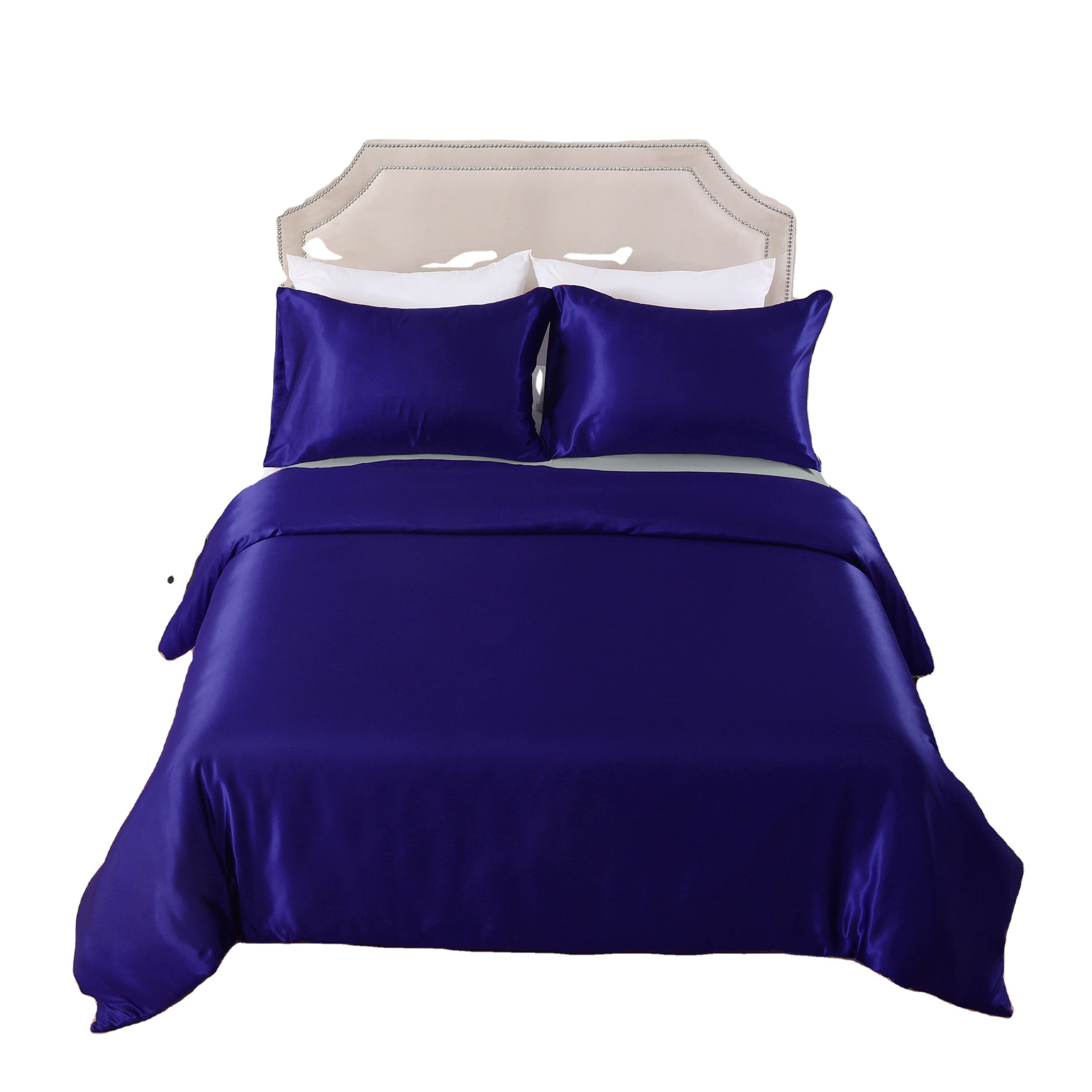 High sales quantity luxury 3d silk satin bed sheet 3pcs bedding set made in China