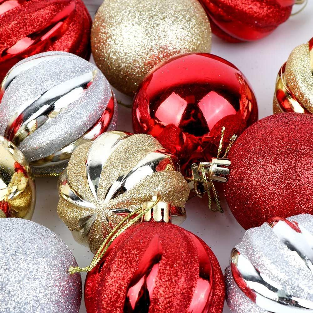 2020 New style Manufacturer 12 Pcs 24 pcs christmas ball ornaments bulk for sale made in China