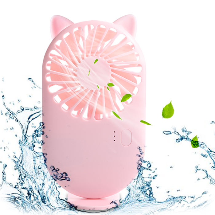 Desk Label Clip Face Usb Led Cooling Private Rechargeable Personal Mini Fan