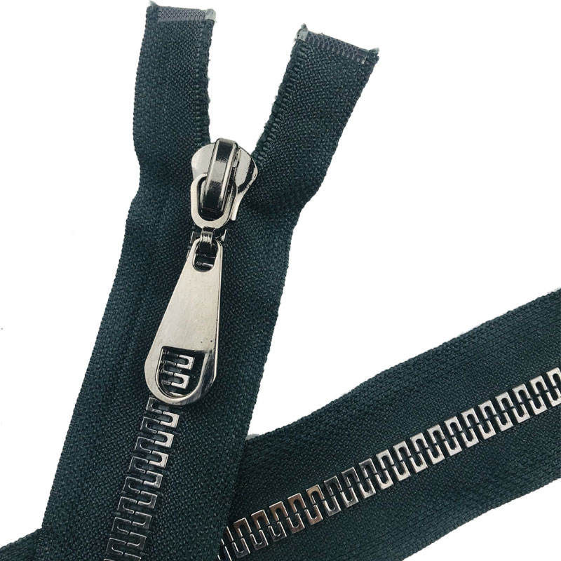 wholesale zipper endless #8 open end plastic separable zipper the shape of the Great Wallblack resin black teeth zipper
