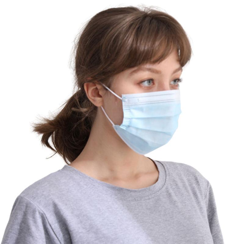 Usa e getta 3-Ply-Face-Maschera di Protezione FaceMasks con Earloop Bocca <span class=keywords><strong>Viso</strong></span> Sanitari Faccia Esterna Mascks