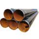 Premium grade 3PE coating spiral steel pipes with bevelled ends