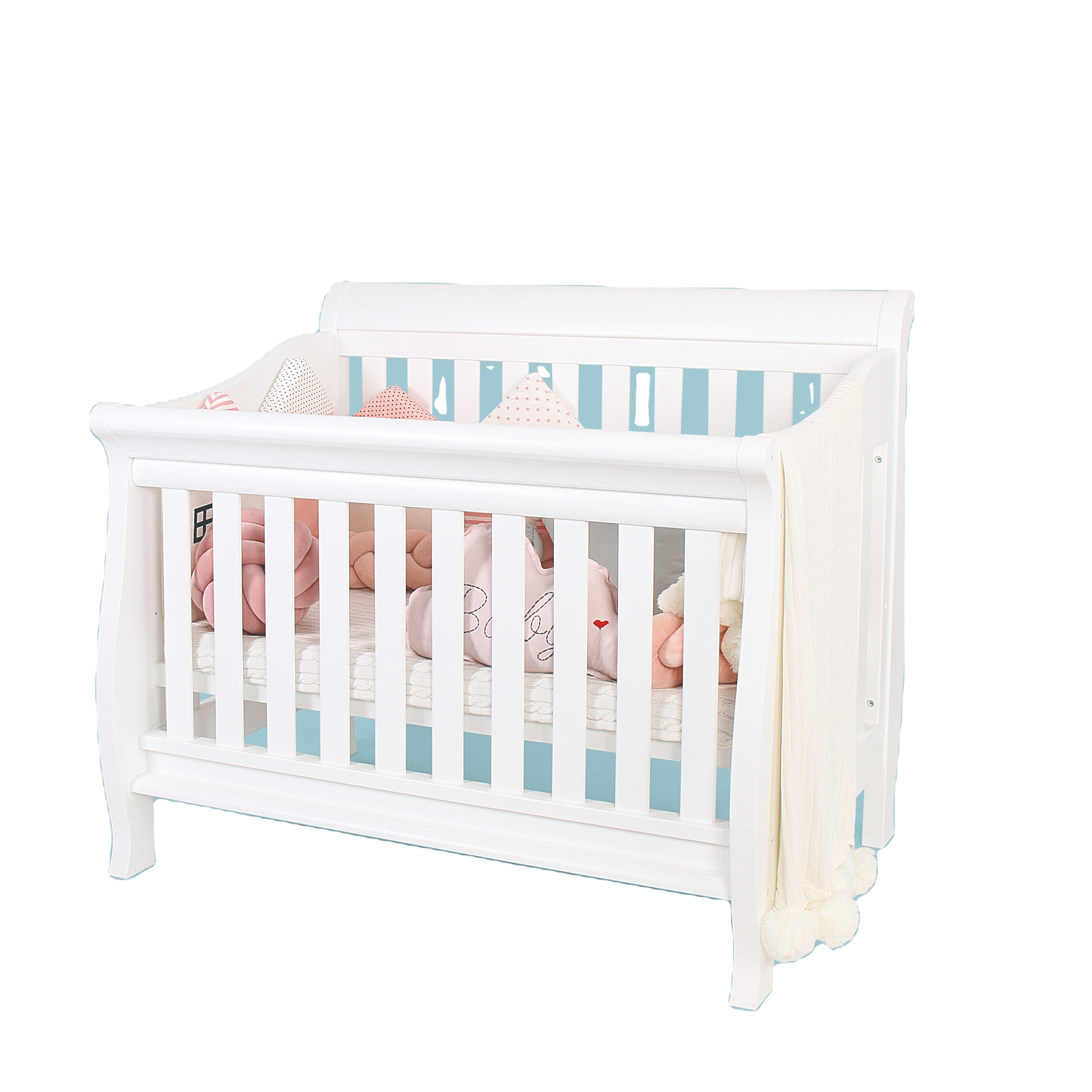 Multifunction Baby Crib Bed Convertible Crib Protector Baby White Crib Baby Kids bed