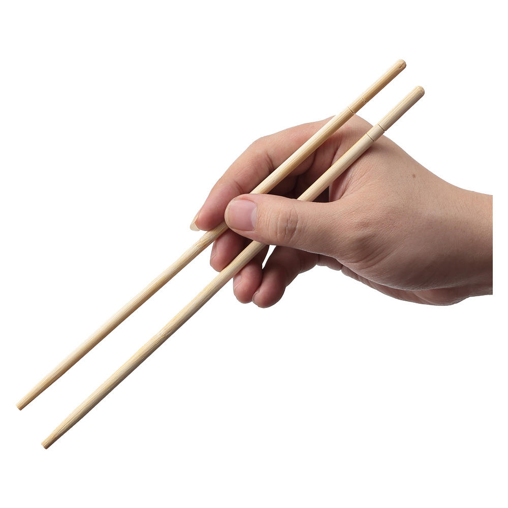 Customised Printed Sleeves Bulk Biodegradable Round Disposable Bamboo Chop Sticks Chopsticks