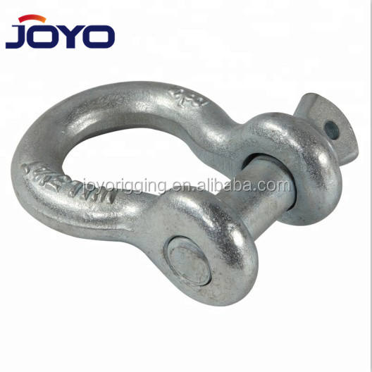 hot dip galvanized drop forged G209 lifting marine screw pin bow shackle