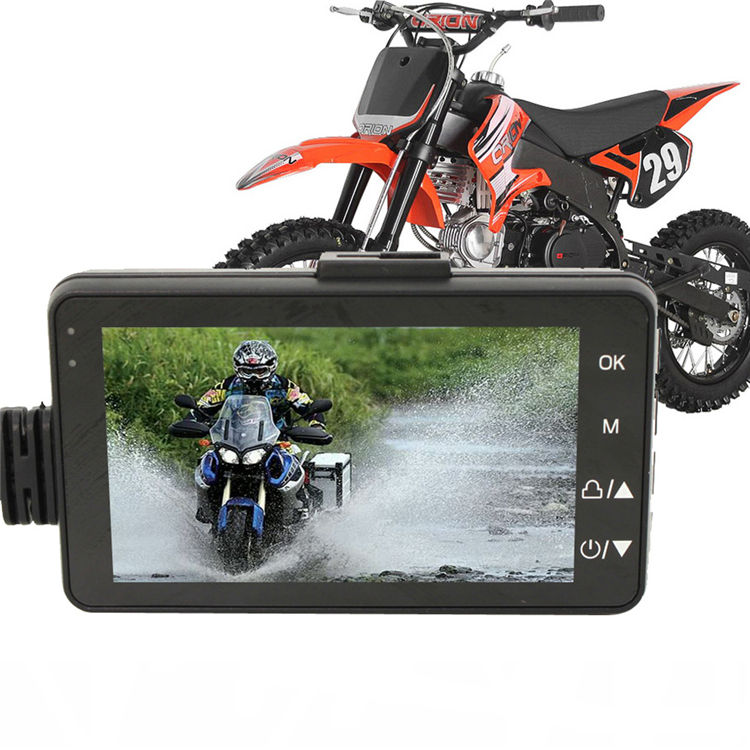 3 Inch Motorcycle Motorbike Dual Camera Action Video Dash Cam Recorder Dvr 1080P 140 Degree Ultra Wide Angle Lens