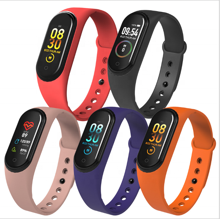Hot-Selling health smart watch Bracelet M4 for Android and iphone ,Activity Tracker for Running Men and Women Fitness Wear