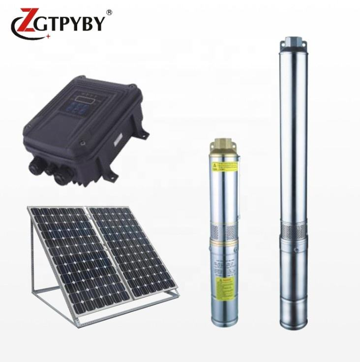 75mm pump dia 750w power large flow high speed dc submersible solar energy irrigation pumps parts from china