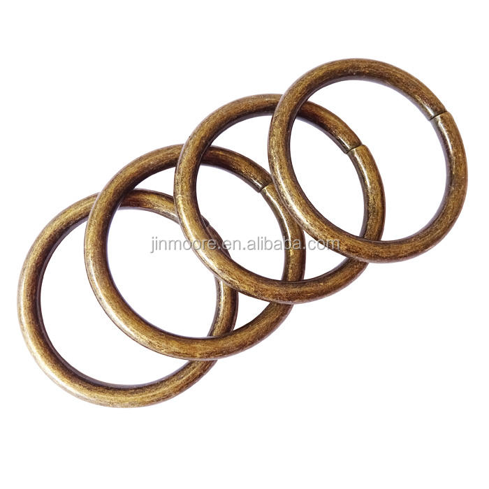 20mm Antique Brass Metal O-Rings For Purse Straps Bags Backpacks