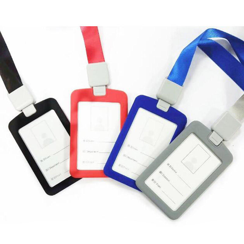 Wholesale Multi Color Durable Silicon Acrylic ID Card Badge Holder