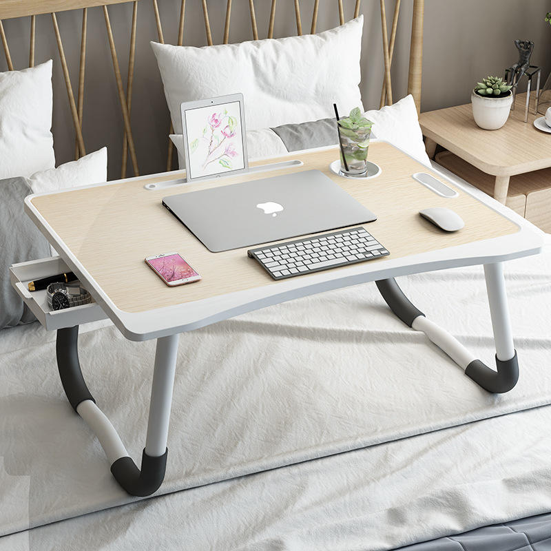 Bed Folding Table AliGan Laptop Stand Bed Desk Folding Table Dormitory Top Bunk Laptop Desk College Student Bedroom Home Small Table Lazy Table