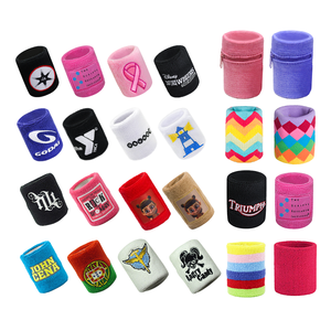Wholesale Cheap Custom embroidery pattern cotton sport terry cloth wristbands sweatbands Jacquard Knitted Logo sweat wrist band