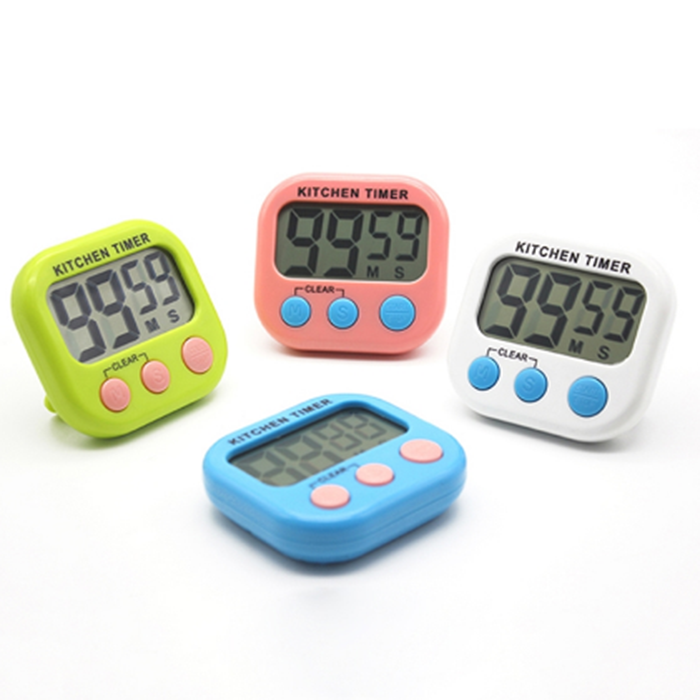 Amazon hot sell Mini magnetic Digital kitchen timer with alarm clock