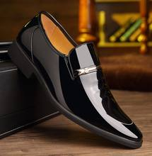 hb10070a 2020 Pointy patent leather business suit casual men's shoes wedding shoes plus size 37-48