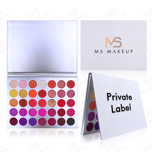 Oem Vegan Cruelty Free 35 Colors White High Pigment Makeup Glitter Custom Logo Cheap Private Label Eye Shadow Eyeshadow Palette