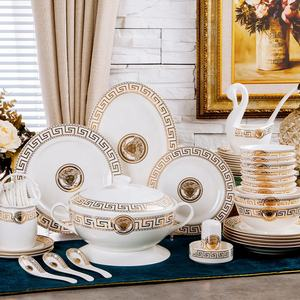 Hot Selling 60 Pcs Western Royal Porcelain Versacs Bone China Dinnerware sets