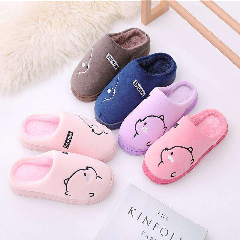 New fashion adult/child family warm cartoon cute thickened indoor slipper shoes